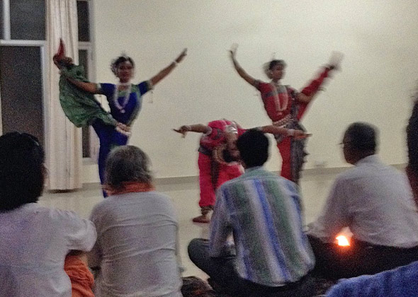 cultural dance during the yoga course
